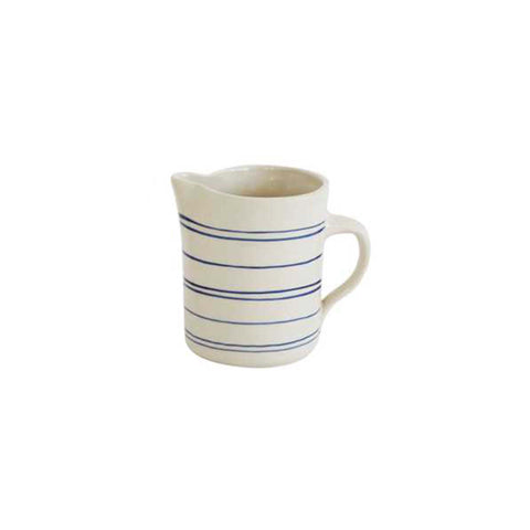 Hand-painted Pitcher - Blue/Cream