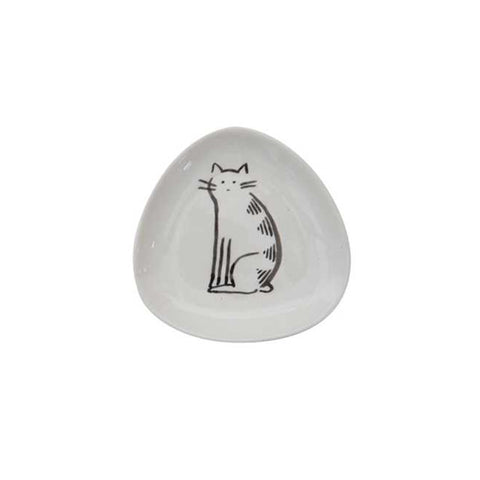 Cats Triangle Dishes - Sitting