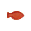 Embossed Ceramic Fish Plate - Coral