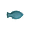 Embossed Ceramic Fish Plate - Aqua