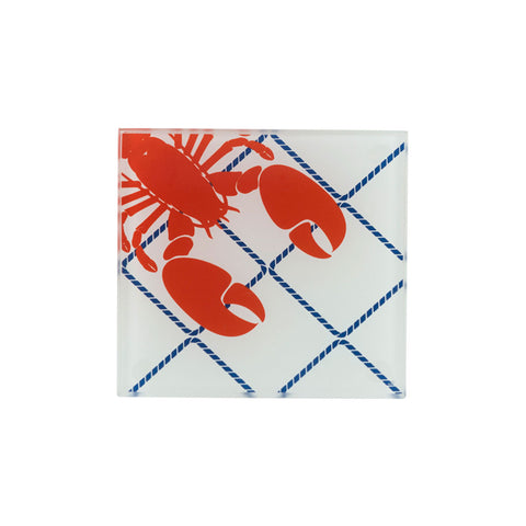 Glass Coaster Set of 4 - Lobsters