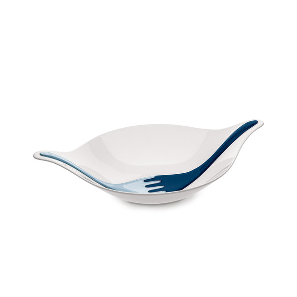 Leaf Salad Bowl - Navy/Blue