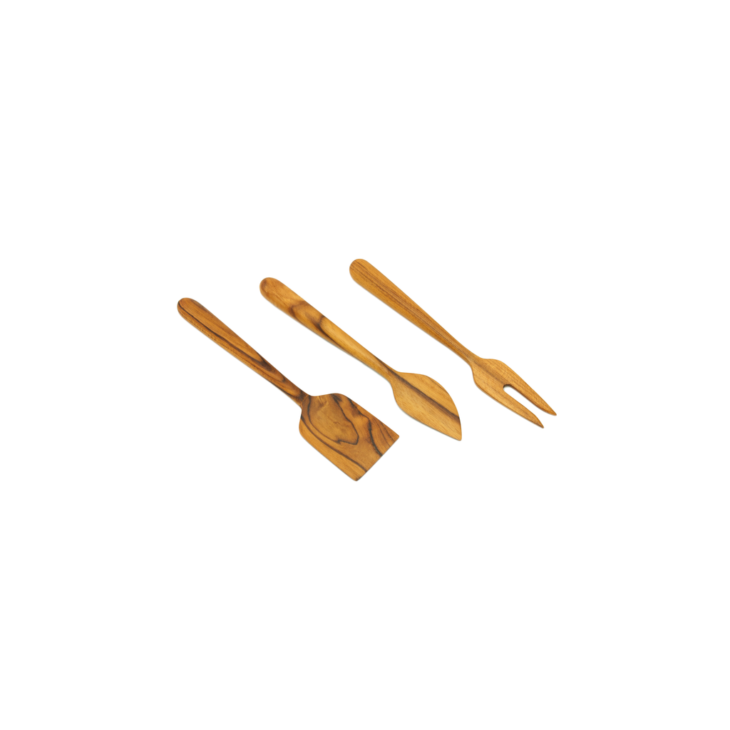 Teak 3 PC Cheese Set