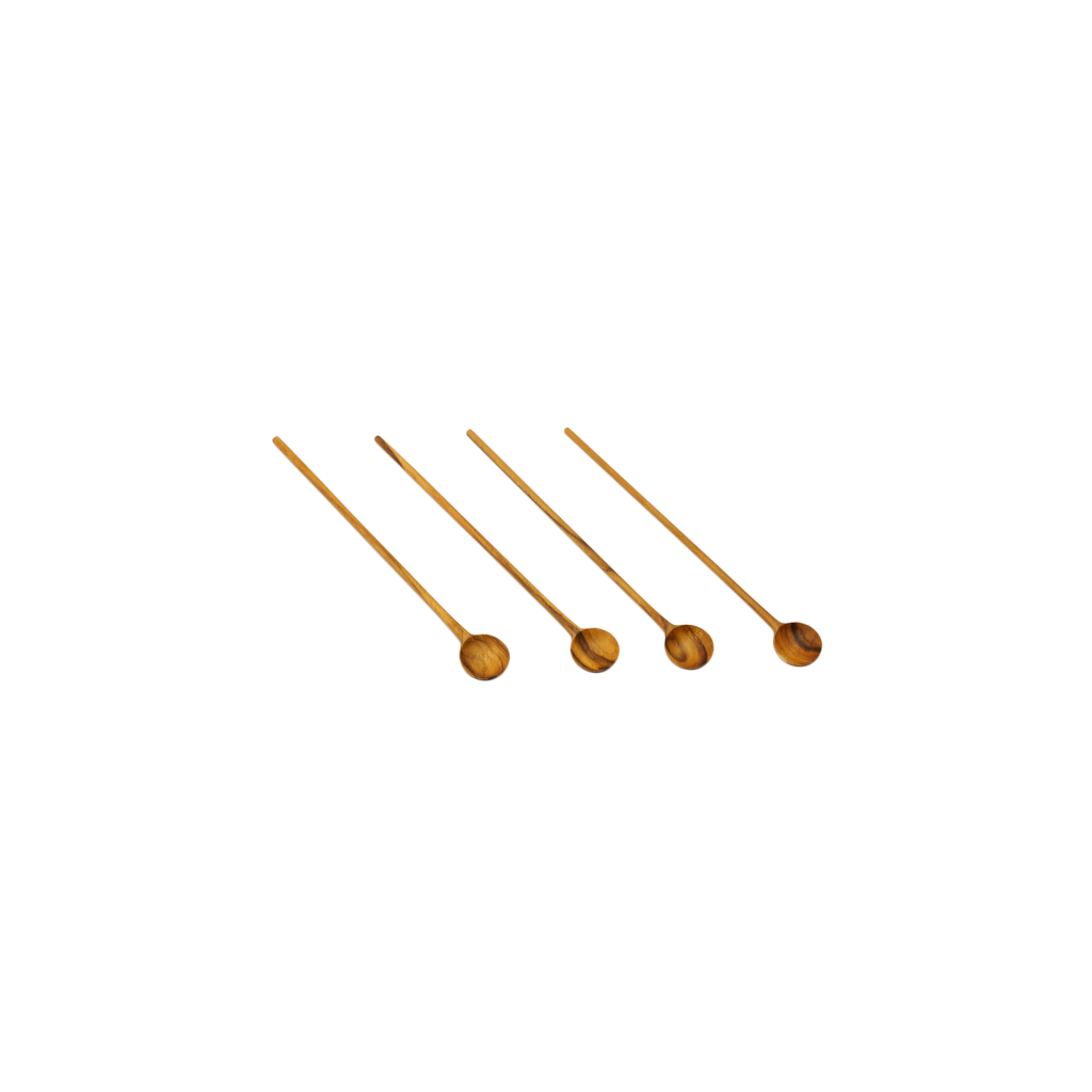Teak Cocktail Stirrers Set of 4