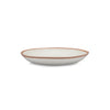 QSquared Terracotta Melamine Dinner Plate - Side