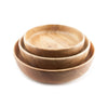 Tamarind Shallow Bowls - shown nested