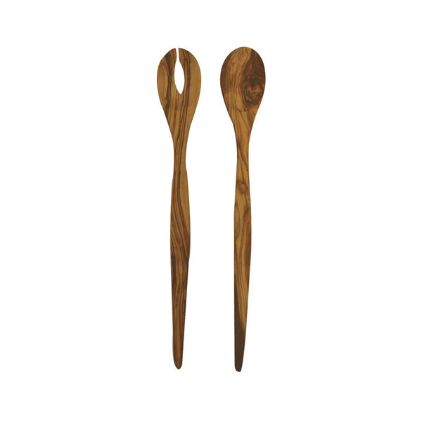 Olive Wood Long Salad Server Set