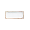 Mango Wood & White Enamel Tray - 12