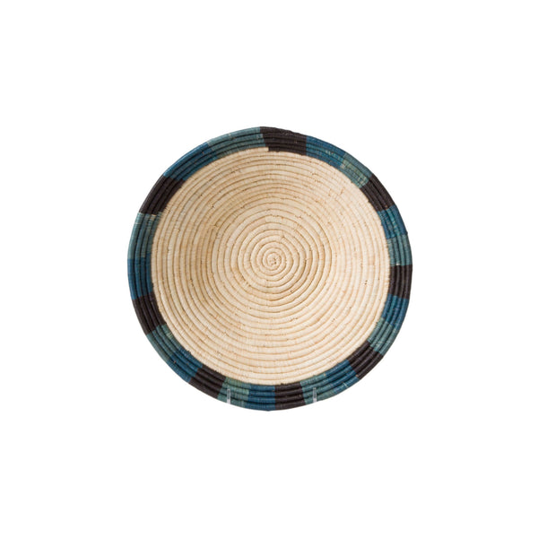 Handwoven Color Blocked Dipped Raffia Large Bowl
