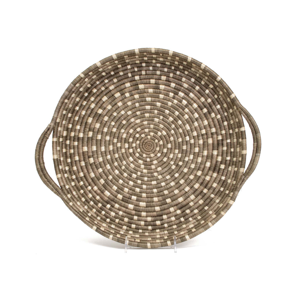 Handwoven Speckled Serving Trays