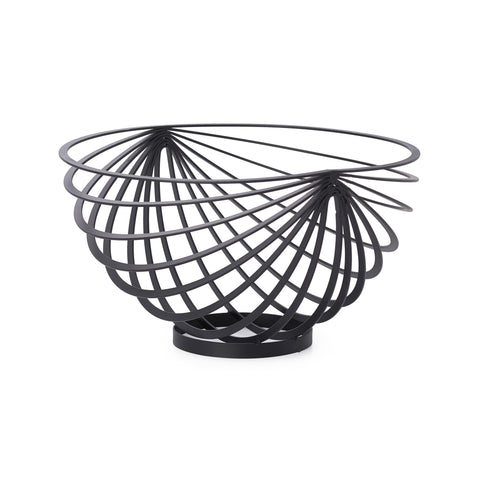 Eclipse Rib Fruit Basket - Black