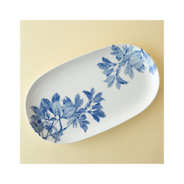 Arbor Blue Small Oval Platter