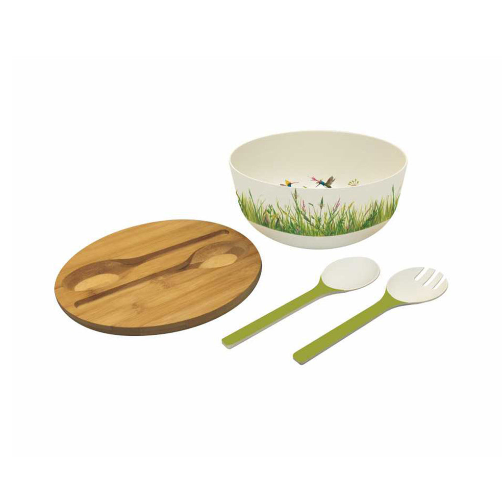 Vicki Sawyer Bamboo Salad Bowl Set - Meadow Buzz
