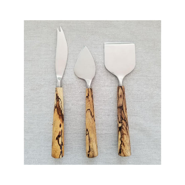 Spalted Tamarind 3PC Cheese Set