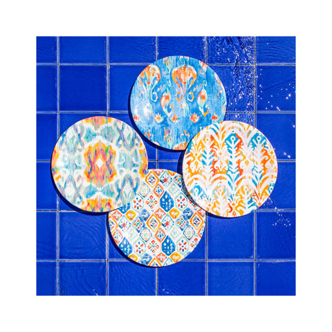 Bali Brights Salad Plates Set of 4