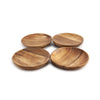 Acacia Wood Tapas Plates Set of 4