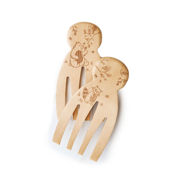 Beechwood Salad Serving Hands - Woodland