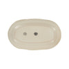 Quantum Oblong Platter - Alabaster - Bottom view