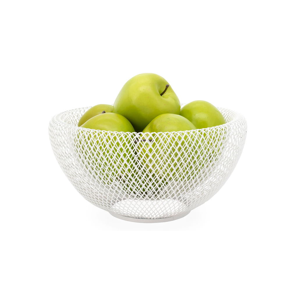 Mesh Double Wall Bowl - White Medium