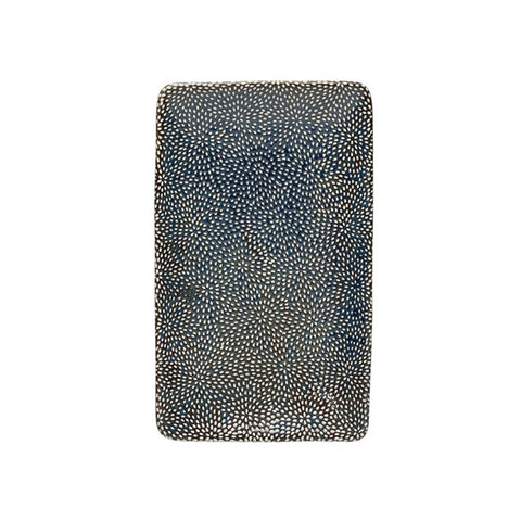Midnight Blue Stoneware Platter - Small - Bursts