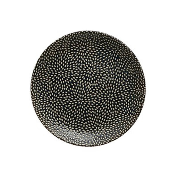 Midnight Blue Stoneware Plate - Small - Bursts