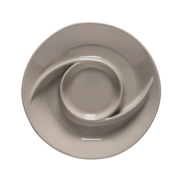 Casafina Modern Chip & Dip - Grey - top view