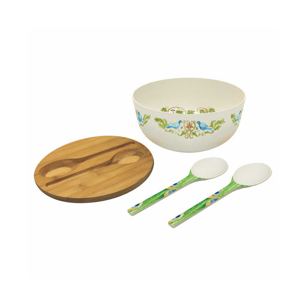 Bodrum Bamboo Salad Bowl Set