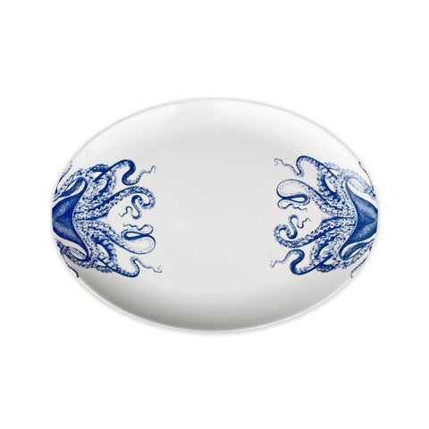 Blue Lucy Coupe Oval Platter