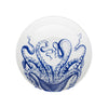 Blue Lucy Octopus Wide Serving Bowl - interior