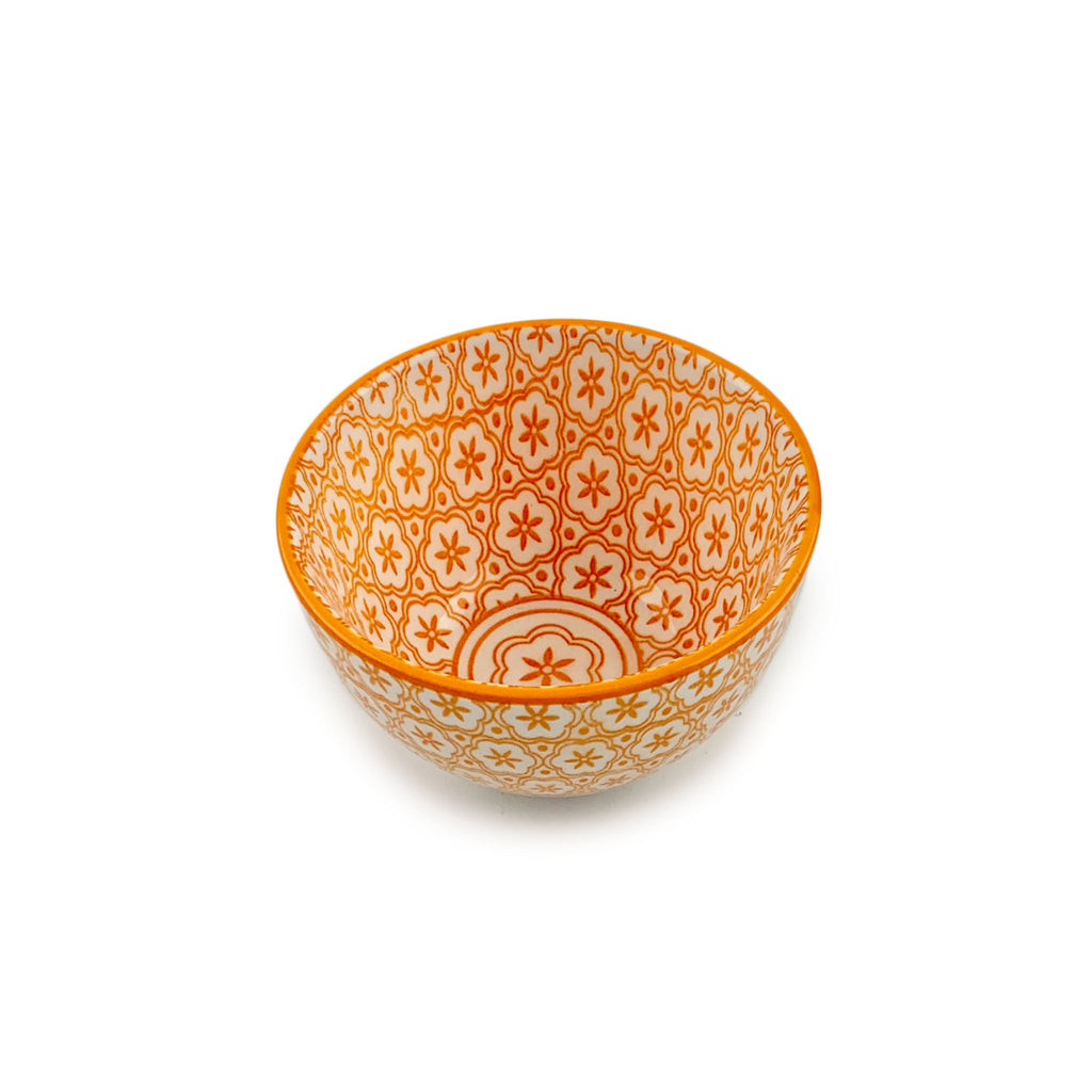 Patterned Mini Bowl - Orange