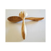 Teak Round Honey Bee Tail Server Set