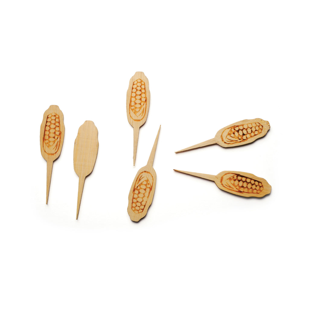Bamboo Corn Picks Set of 50