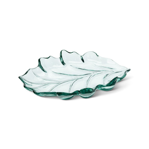 Recycled Glass Leaf Platter