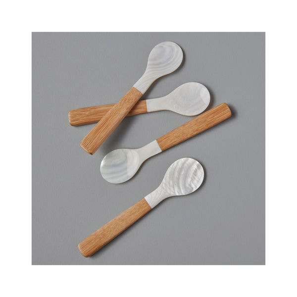 Sea Shell with Bamboo Small Spoon
