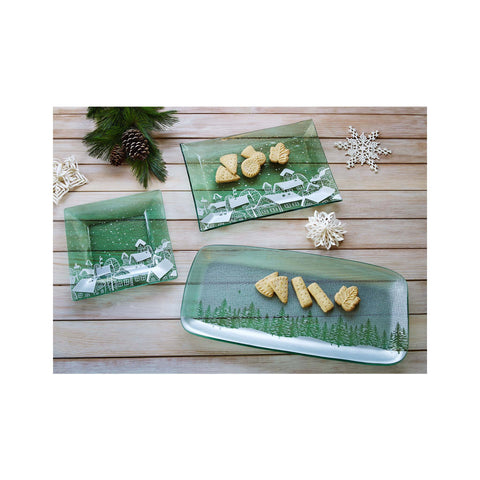Annieglass Winter Trees Gathering Tray