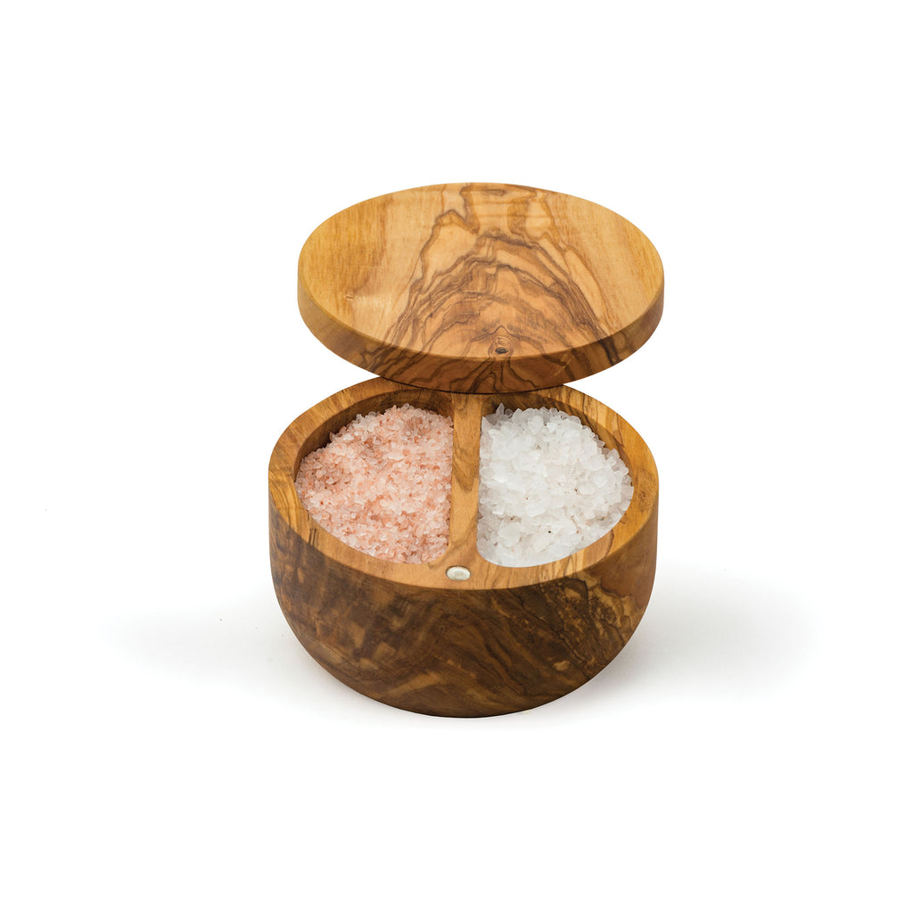 Olive Wood Salt Box