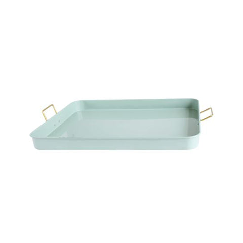 Metal Serving Trays with Gold Accent
