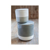 Stoneware Containers - Grey & White - Small & Medium