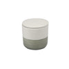 Stoneware Container - Grey & White - Small