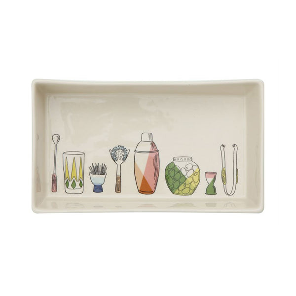 Barware Theme Serving Dish