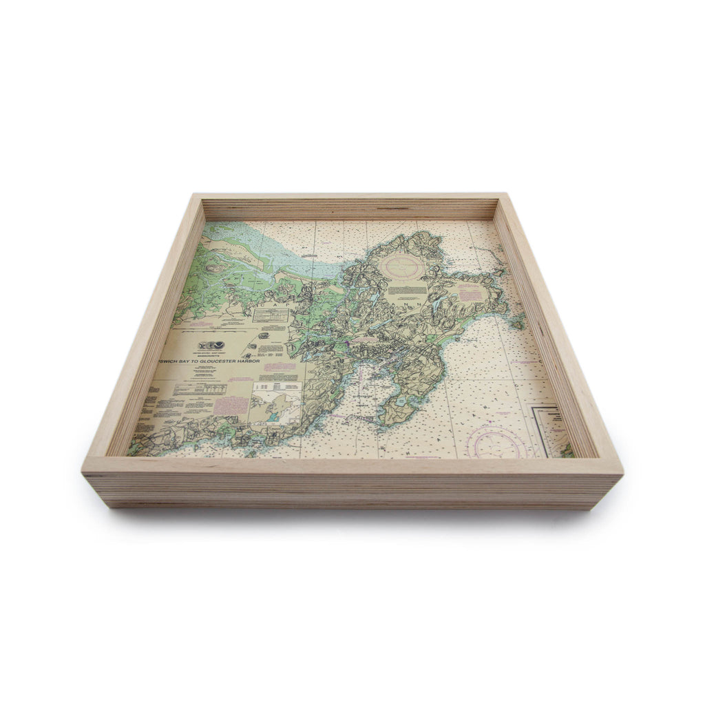 LAMOU Baltic Birch Printed Serving Tray - North Shore