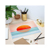 Abstract Acrylic Tray - Minimalist Sunset - on desk