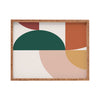 Abstract Geometric Bamboo Tray