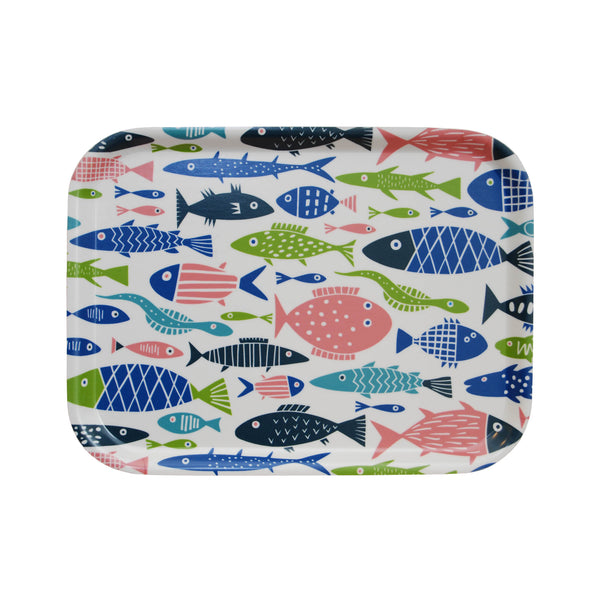 Swedish Laminated Tray - Fish Rectangle