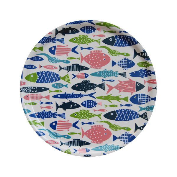 Swedish Laminated Trays - Fish Round