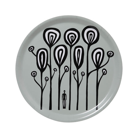 Swedish Laminated Trays - Woman in Forest Round