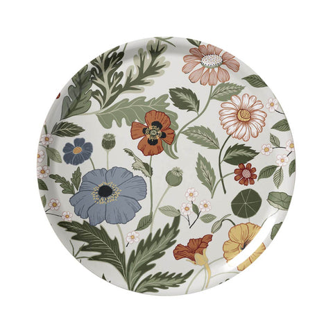 Swedish Laminated Trays - Bloom Cream Round