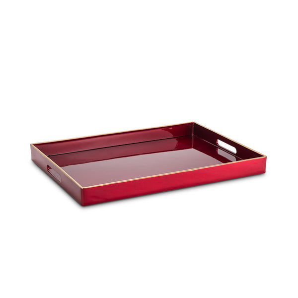 Red Lacquer Tray - Rectangle