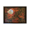 LAMOU Baltic Birch Printed Serving Tray - Dark Squirrels - top view