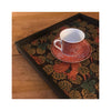 LAMOU Baltic Birch Printed Serving Tray - Dark Squirrels - in use